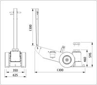 Těžké zvedáky pro těžební a stavební průmysl 150t 460–595mm 150–1L
