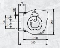 Automatický navíjecí buben elektro 811180
