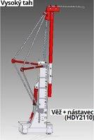 Tažná věž 23T, válec, řetěz HD452A, bezpečnostní lanko, čerpadlo HDY2130