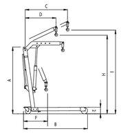 Skl.trojnožka/nízká 85mm/otočná písnice 500kg 1586G