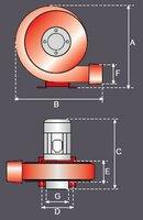 Plechový ventilátor ASL-G-0,5-S