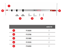 Teleskopická měř.tyč 950–3250mm, kompl. AEK419