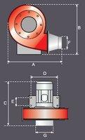Vysokotlaký plechový ventilátor AVA-G-MR-4