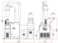 Drtič kabelů 130–180kg/hod sturbem SINCRO315MILL