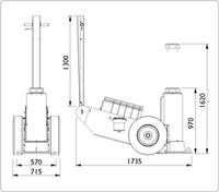 Těžké zvedáky pro těžební a stavební průmysl 100t 970–1620mm 100–1H