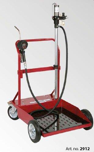 Vozík+pumpa na olej 200L sud/dig.pis.3m hadice 2912