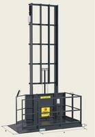 Sloupový výtah jeden nosník ustěny GLS500–4