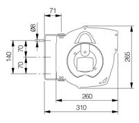 Automatický navíjecí buben slampou 811480DC
