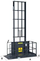 Sloupový výtah jeden nosník ustěny GLS1000–4