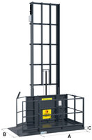 Sloupový výtah jeden nosník ustěny GLS1000–10
