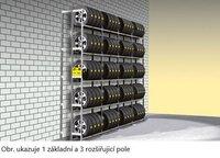 Reg.na pneu jednoduchý Y prodloužení,5polic Y5-AF