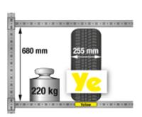Reg.na pneu jednoduchý Y základní,4police DM4–1000GF