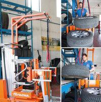Hrazda pro přemístění pneumatik do váhy 35kg ELEVAH75TI.BR