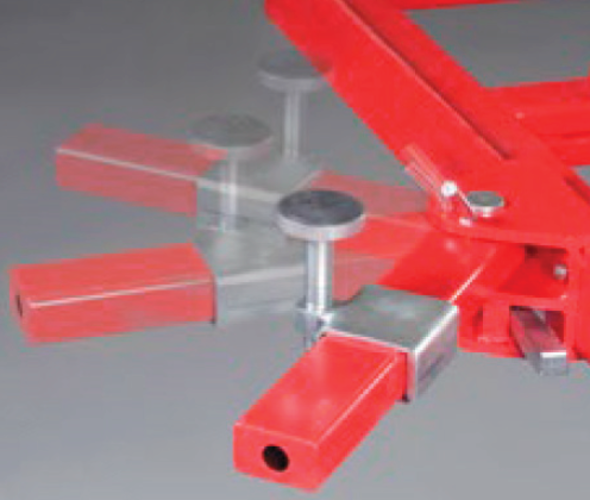 Sada 4nastavitelných podložek na mobilních ramenech pro MINIPOST MPT6005