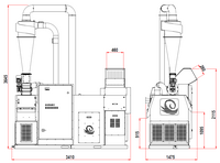 Drtič kabelů 250–330 kg/hod sturbem SINCRO415MILL