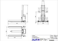 Sloupový paletový zvedák nerezový TSL600SS