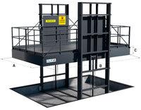 Sloupový výtah dva nosníky proti sobě GLDOP4000–3