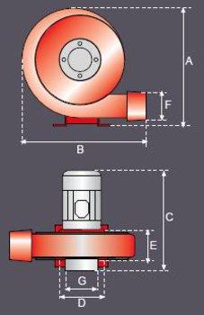 Hliníkový ventilátor AVA-G-2