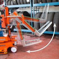 Zvedák a naklápěč pneumatik ELEVAH75TI.2REG